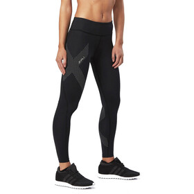 2XU Mid-Rise Compression Tights Women Black/Dotted Reflective Logo